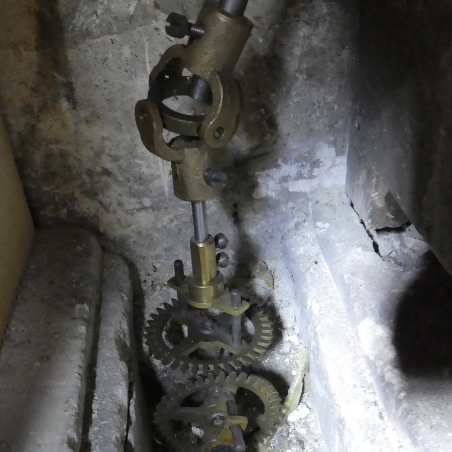 Mécanisme horloge de monument © Photo Jean-Baptiste Viot - Association Horloge Notre-Dame