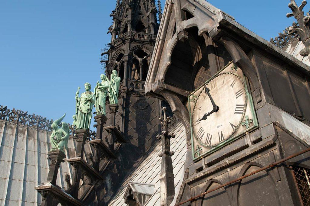 Cadran horloge Notre-Dame © Photo Bruno Cabanis - Association Horloge Notre-Dame