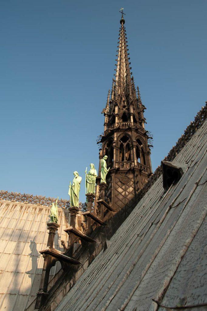 Flèche de Notre-Dame © Photo Bruno Cabanis - Association Horloge Notre-Dame