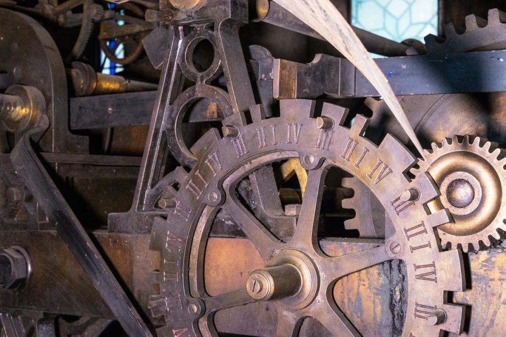 Horloge de la Trinité, détail mécanisme © Photo Bruno Cabanis - Association Horloge Notre-Dame